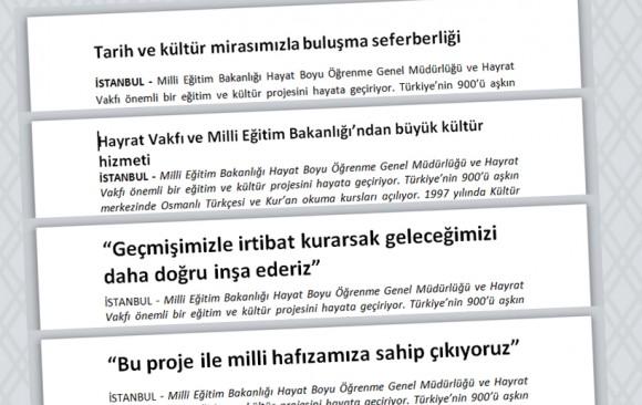 Haber Metinleri (4 Adet)