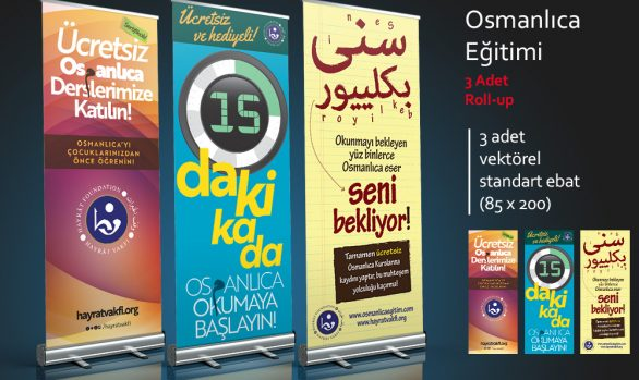 Rollup: Osmanlıca Eğitimi (3 Rollup)